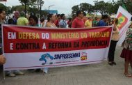 R(D)eforma da Previdência: Sinproesemma participa de ato contra ataque aos trabalhadores