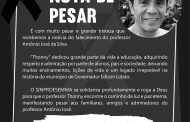 Nota de Pesar - Professoro Antônio José da Silva